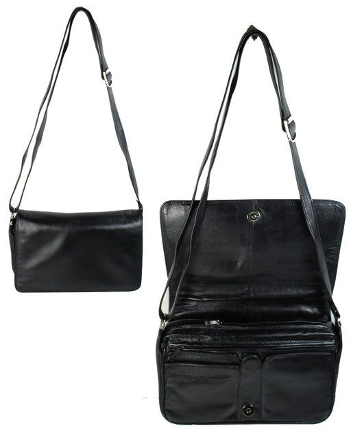 Exclusive to Begg Shoes As 9233 M Flap 9233-30 Black handbag