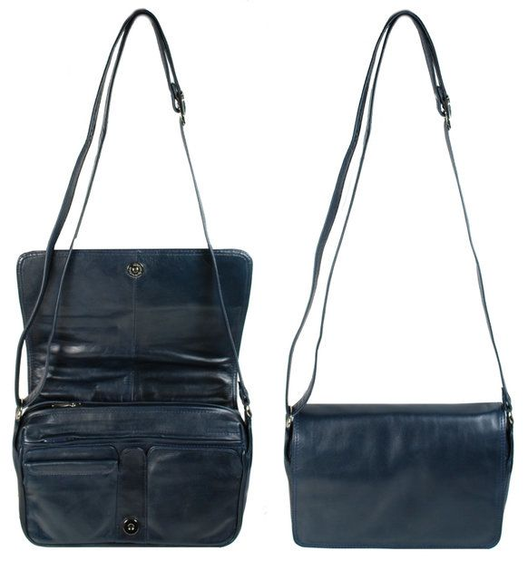 Exclusive to Begg Shoes As 9233 M Flap 9233-70 Navy handbag