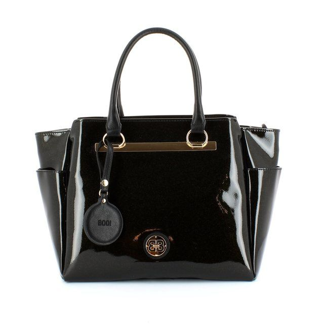 Exclusive to Begg Shoes Bodrum 4173-14 Black patent handbag