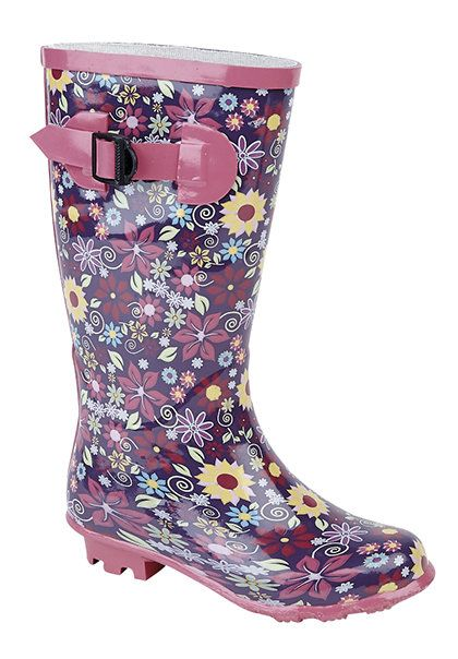 Exclusive to Begg Shoes Wellies - Purple multi - W0153/90 RAINY  W153PM