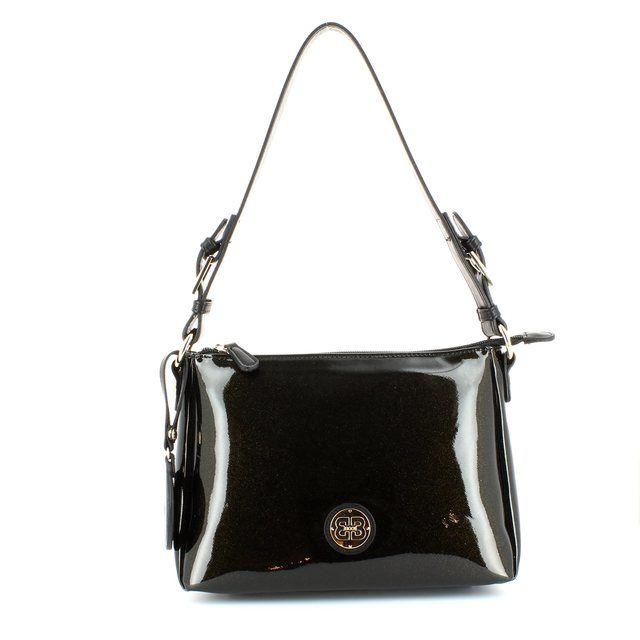 Exclusive to Begg Shoes Rodos 2163-24 Black patent handbag