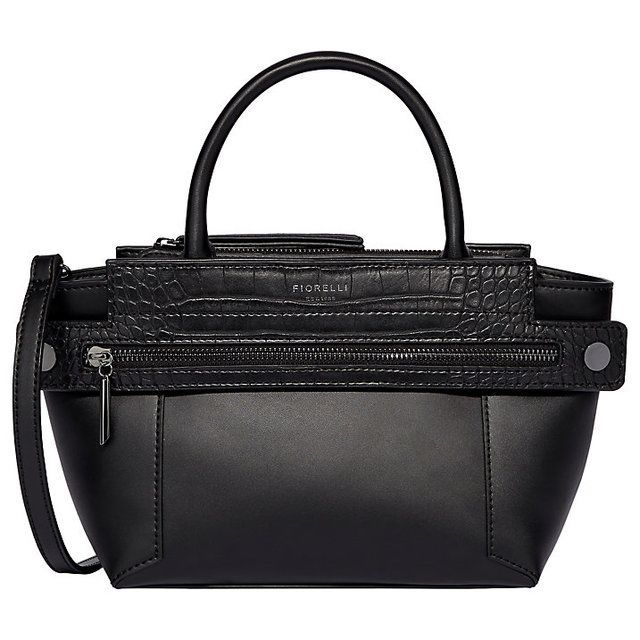 Fiorelli Handbag - Black croc - FH8713/35 ABBEY MINI GRAB