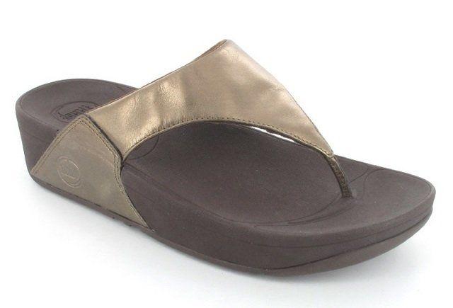 FitFlop Lulu  Leather 102-500 Bronze slipper mules