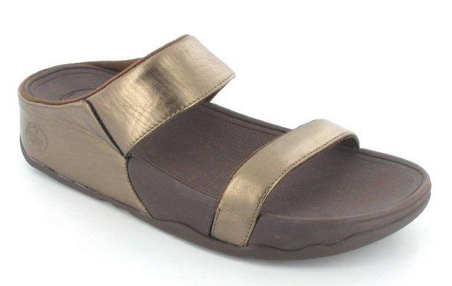 FitFlop Lulu Slide 103-500 Bronze slipper mules