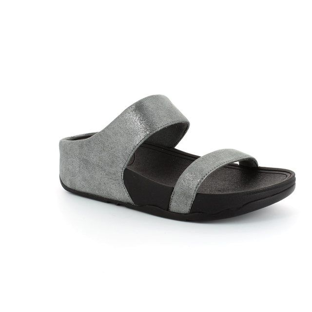 FitFlop Lulu Slide Shi 506-054 Pewter slipper mules