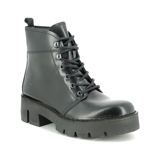 Fly London Ankle Boots - Black leather - P211009 BOLA