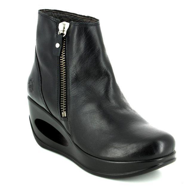 Fly London Wedge Boots - Black - P143795 HULK 795