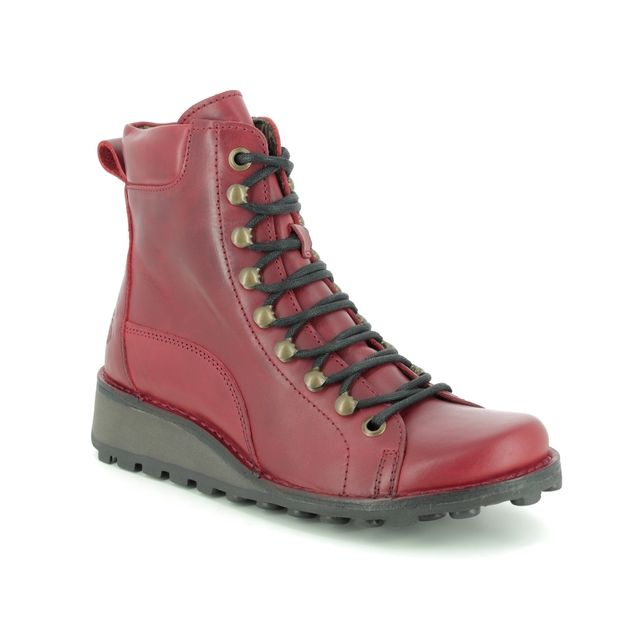 Fly London Ankle Boots - Red leather - P211001 MALU