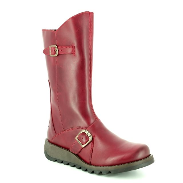 Fly London Knee-high Boots - Red - P142913 MES 2