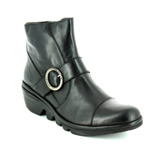Fly London Pais 655 P500655-000 Black Wedge boots