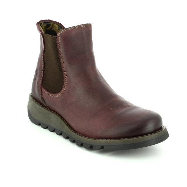 Fly London Salv 195 P143195-003 Purple Chelsea Boots