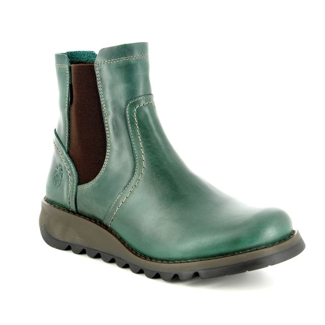 Fly London Chelsea Boots - Petrol leather - P144058 SCON GORE-TEX