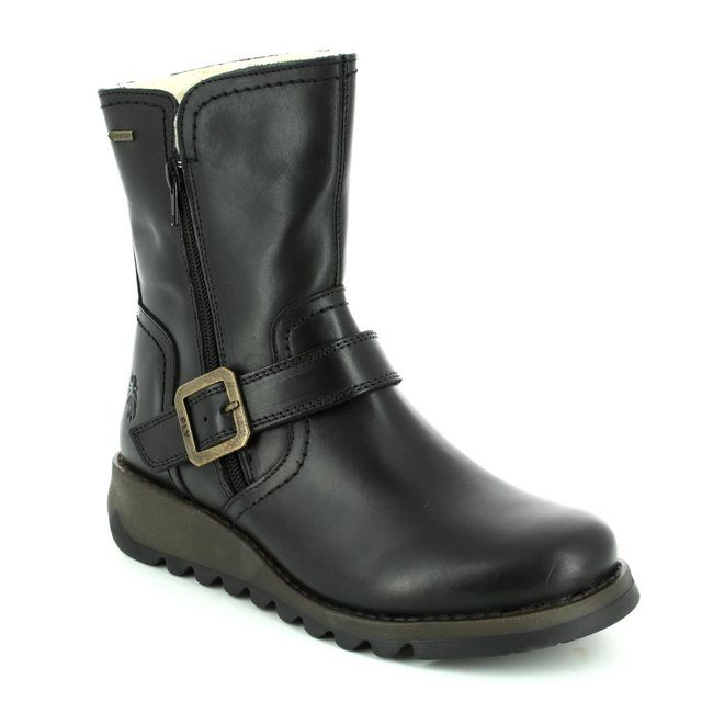 Fly London Wedge Boots - Black - P144057 SEKU GORE-TEX