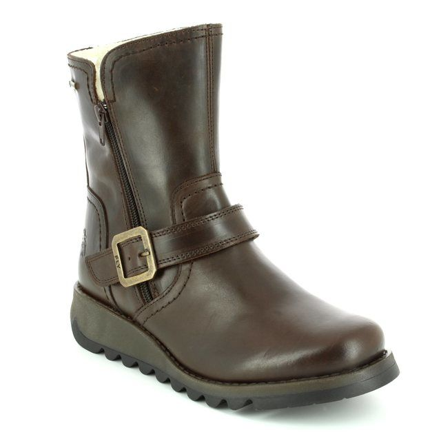 Fly London Wedge Boots - Brown - P144057 SEKU GORE-TEX