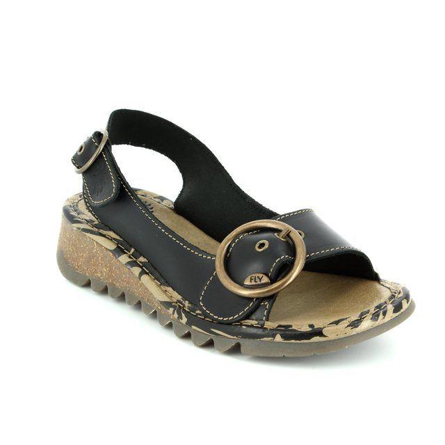 Fly London Sandals - Black - P500723 TRAM