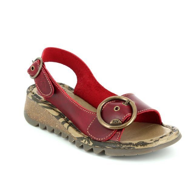 Fly London Sandals - Dark Red - P500723 TRAM
