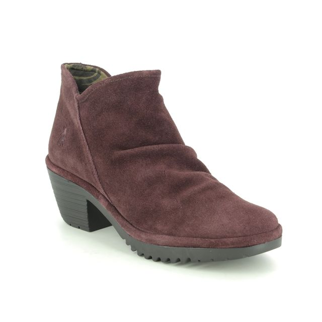 Fly London Ankle Boots - Wine - P500890 WEZO
