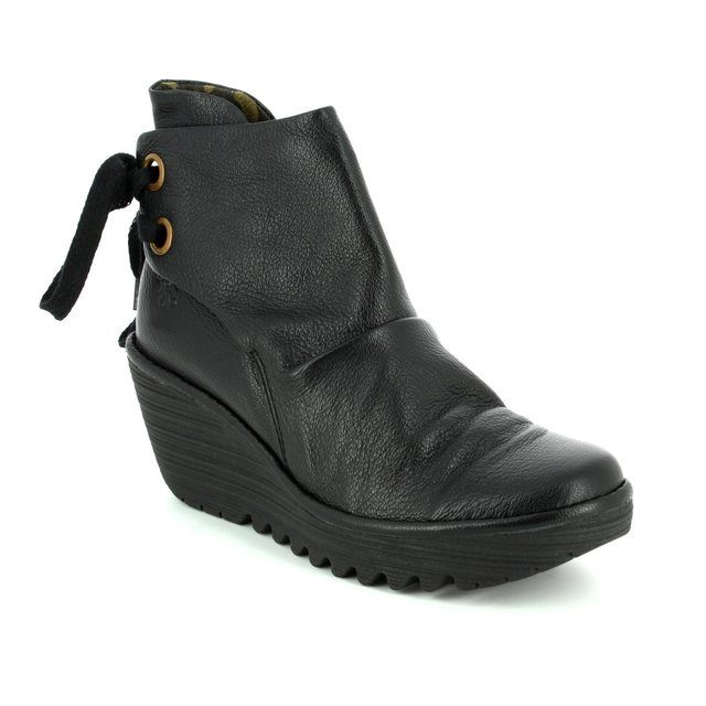 Fly London Ankle Boots - Black - P500326 YAMA