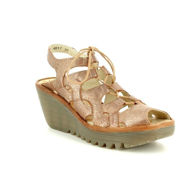 Fly London Wedge Sandals - Taupe multi - P500916 YEXA 835