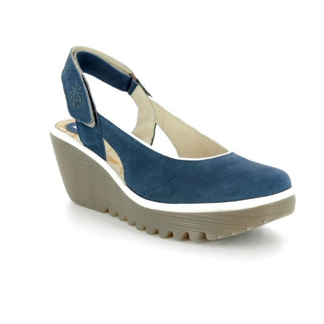 Fly London Wedge Shoes - Blue - P500831 YIPI 831