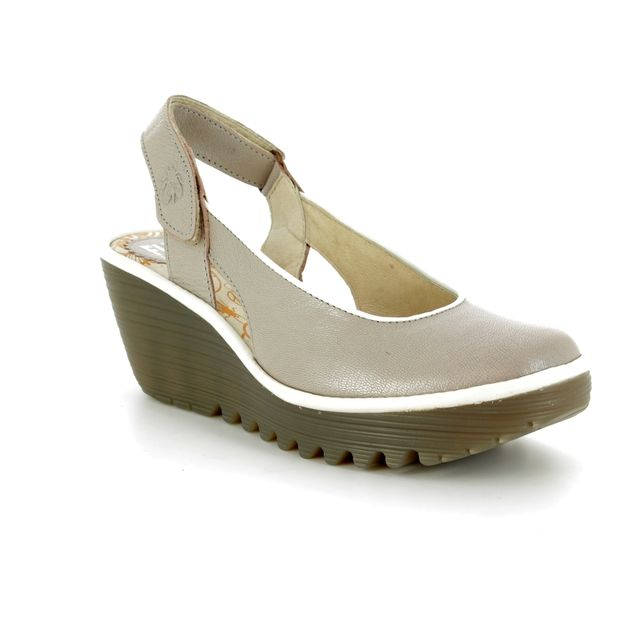 Fly London Wedge Shoes - Champagne beige - P500831 YIPI 831