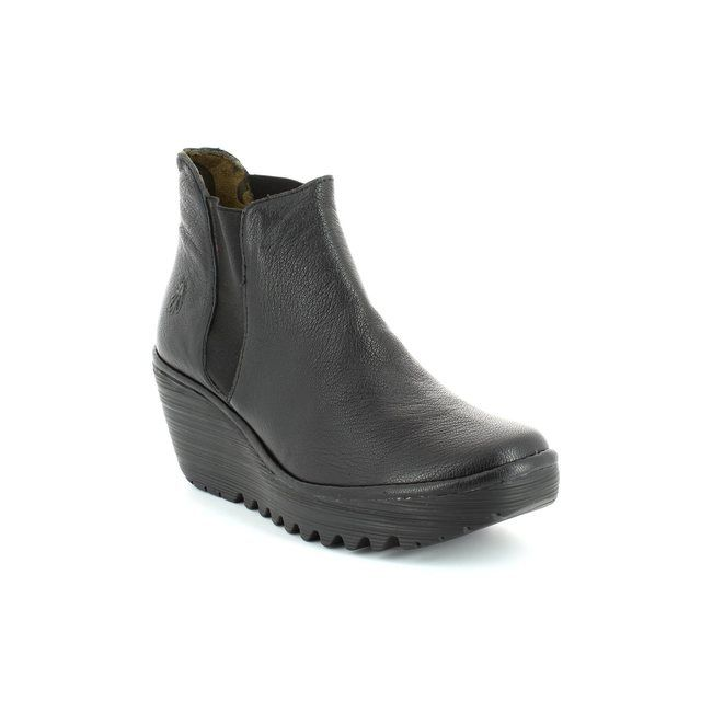 Fly London Wedge Boots - Black - P500431 YOSS