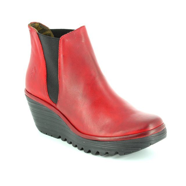 Fly London Yoss P500431-043 Red ankle boots