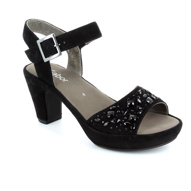 Gabor Abe 45.751.17 Black suede sandals