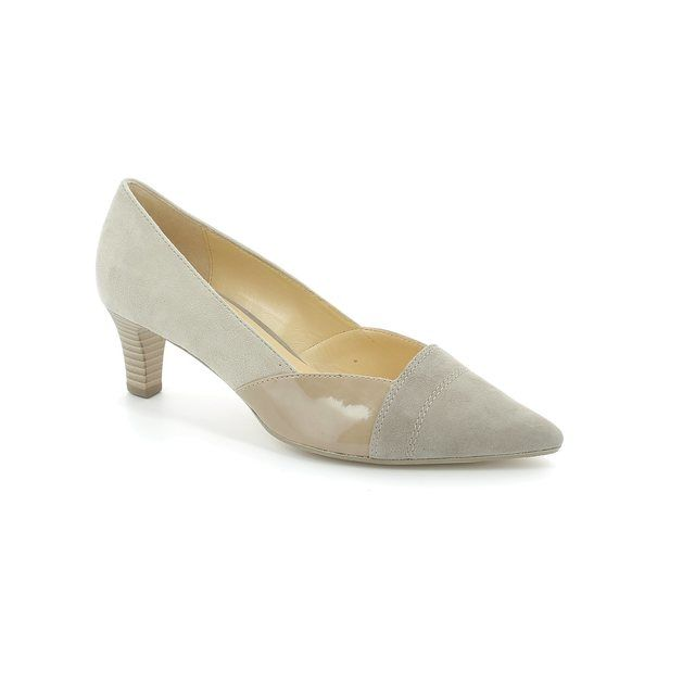 Gabor High-heeled Shoes - Beige patent-suede - 41.251.12 AMBERLY