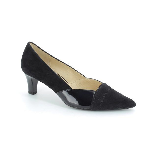Gabor Amberly 41.251.16 Navy patent-suede high-heeled shoes