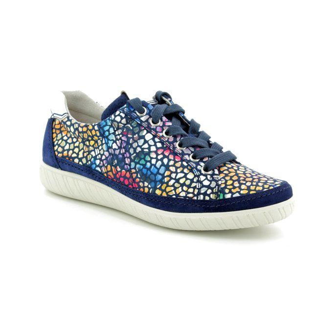 Gabor Trainers - Navy multi floral or fabric - 86.458.16 AMULET