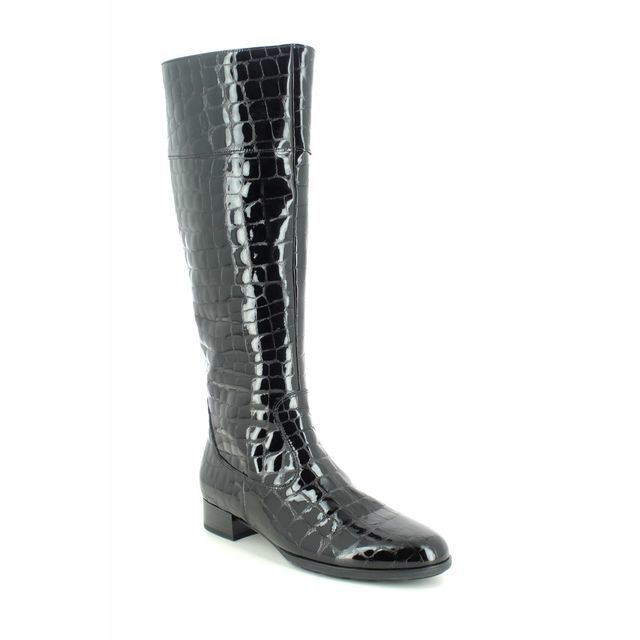 Gabor Knee-high Boots - Black croc - 55.509.97 ASHLEIGH