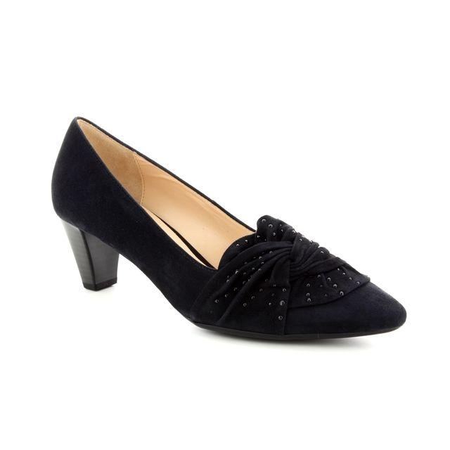 Gabor Heeled Shoes - Navy suede - 95.148.16 ASHTON