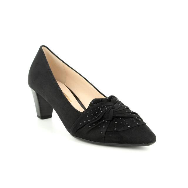 Gabor Heeled Shoes - Black suede - 95.148.17 ASHTON