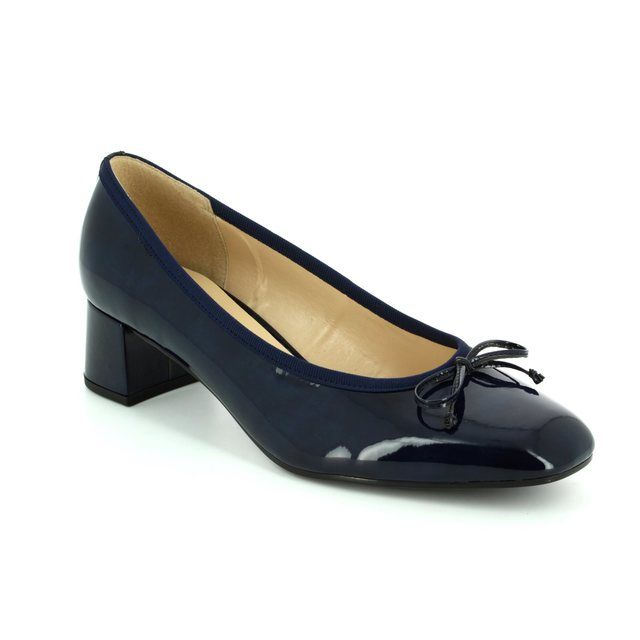 Gabor Heeled Shoes - Navy patent - 75.262.76 BELFAST