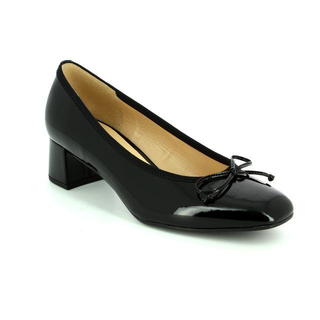 Gabor Belfast 75.262.77 Black patent heeled shoes