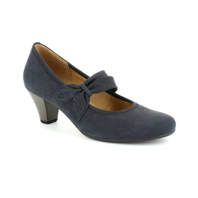 Gabor Betbar 25.480.16 Navy nubuck heeled shoes