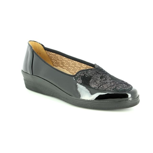 Gabor Wedge Shoes - Black patent - 96.404.17 BLANCHE