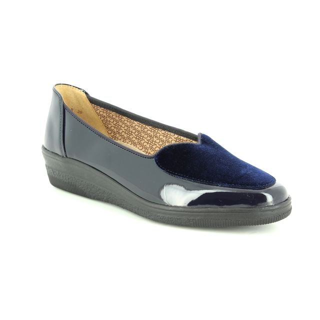 90609b6bddaf Gabor Blanche 96.404.26 Navy patent Wedge Shoes