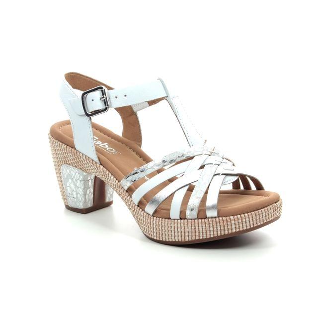 143959770efc01 Gabor Cheri 22.736.51 White-silver Heeled Sandals