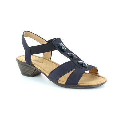 Gabor Cumo 24.542.16 Navy nubuck sandals