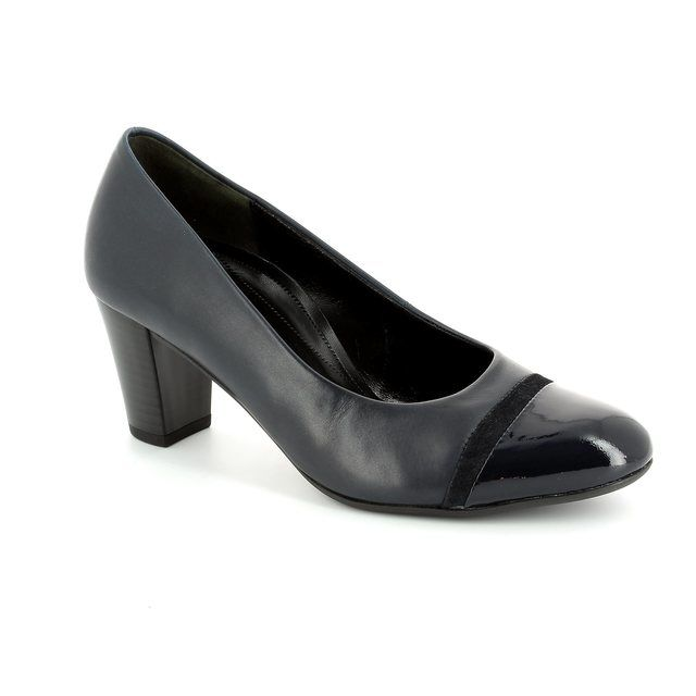 Gabor Deal 42.162.56 Navy patent heeled shoes