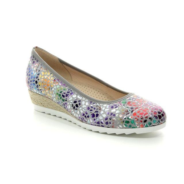 Gabor Wedge Shoes - Grey Multi Floral - 22.641.24 EPWORTH