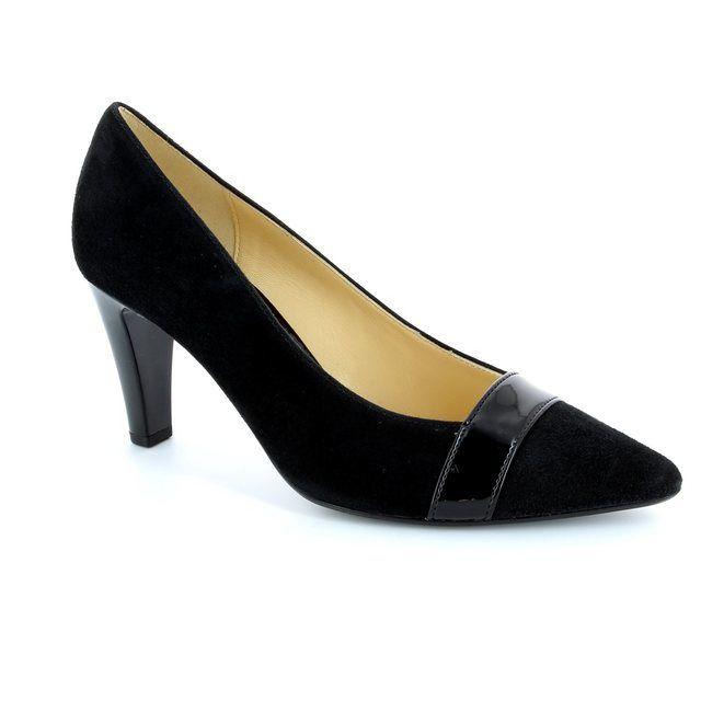 Gabor Erskine 2 41.283.17 Black patent/suede high-heeled shoes