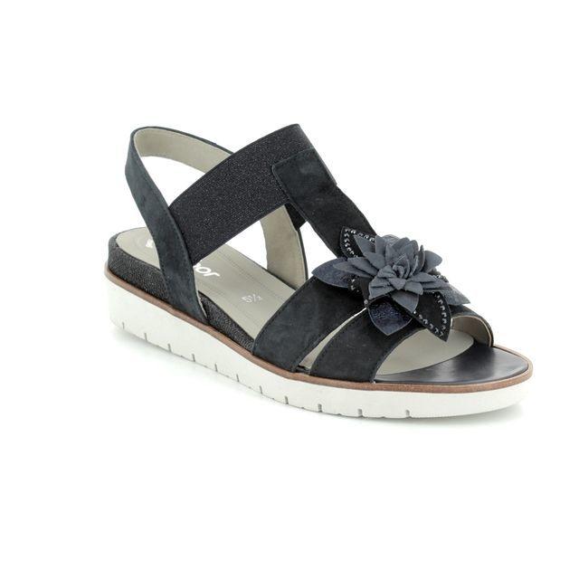 Gabor Wedge Sandals - Navy - 85.502.16 ESTELLA