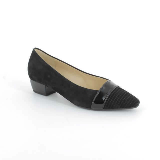 Gabor Exact 45.135.17 Black patent/suede heeled shoes