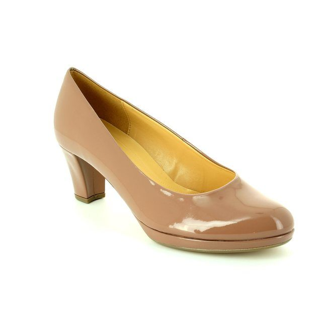 Gabor High-heeled Shoes - Nude Patent - 41.260.94 FIGARO