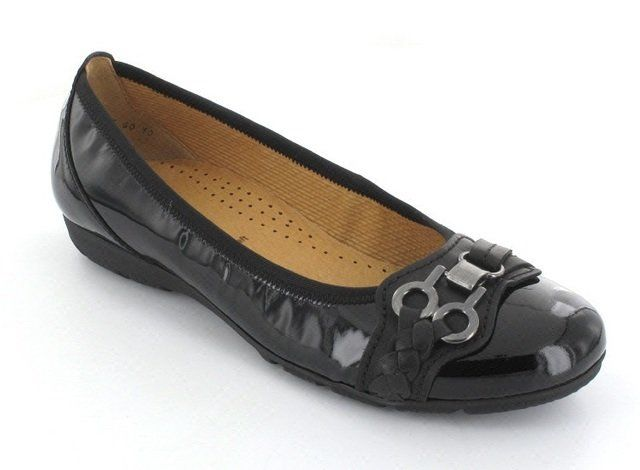 Gabor Float 94.166.97 Black patent pumps
