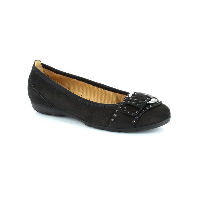 Gabor Florag 34.168.17 Black nubuck pumps