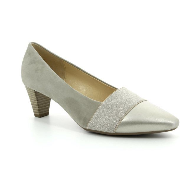 Gabor Heeled Shoes - Beige patent-suede - 85.141.10 FOLKY